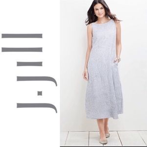 J Jill Love Linen asymmetrical stripe shift dress